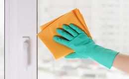 hand in a green glove